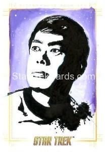 Star Trek The Original Series 50th Anniversary Trading Card Sketch Kevin Graham Alternate