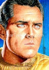 Star Trek The Original Series 50th Anniversary Trading Card Sketch Kristin Allen