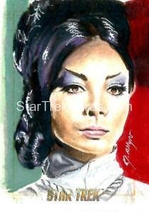 Star Trek The Original Series 50th Anniversary Trading Card Sketch Kristin Allen Alternate