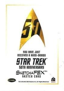 Star Trek The Original Series 50th Anniversary Trading Card Sketch Kristin Allen Back