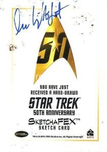 Star Trek The Original Series 50th Anniversary Trading Card Sketch Lee Lightfoot Back