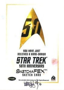 Star Trek The Original Series 50th Anniversary Trading Card Sketch Leon Braojos Back