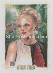 Star Trek The Original Series 50th Anniversary Trading Card Sketch Melike Acar 1