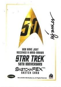 Star Trek The Original Series 50th Anniversary Trading Card Sketch Michael James Back
