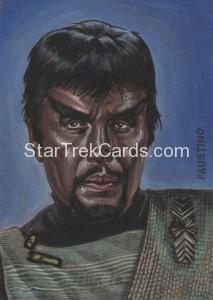 Star Trek The Original Series 50th Anniversary Trading Card Sketch Norman Jim Faustino 1