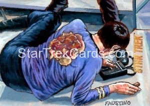 Star Trek The Original Series 50th Anniversary Trading Card Sketch Norman Jim Faustino Alternate