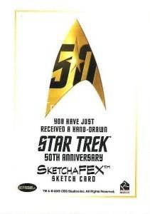 Star Trek The Original Series 50th Anniversary Trading Card Sketch Norman Jim Faustino Back