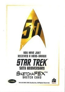 Star Trek The Original Series 50th Anniversary Trading Card Sketch Rich Molinelli Back