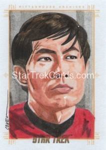 Star Trek The Original Series 50th Anniversary Trading Card Sketch Roy Cover Alternate