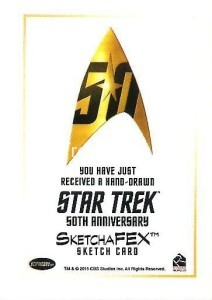 Star Trek The Original Series 50th Anniversary Trading Card Sketch Roy Cover Back