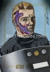 Star Trek The Original Series 50th Anniversary Trading Card Sketch Scott Houseman Alternate