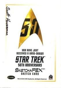 Star Trek The Original Series 50th Anniversary Trading Card Sketch Scott Houseman Back