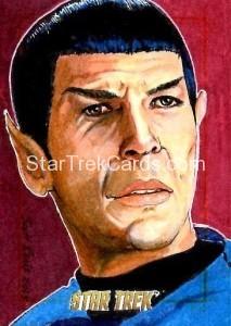 Star Trek The Original Series 50th Anniversary Trading Card Sketch Scott Rorie