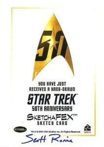 Star Trek The Original Series 50th Anniversary Trading Card Sketch Scott Rorie Back