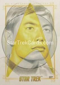 Star Trek The Original Series 50th Anniversary Trading Card Sketch Sean Pence