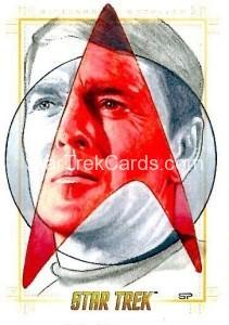 Star Trek The Original Series 50th Anniversary Trading Card Sketch Sean Pence Alternate