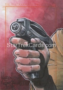 Star Trek The Original Series 50th Anniversary Trading Card Sketch Warren Martineck Alternate