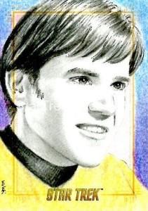 Star Trek The Original Series 50th Anniversary Trading Card Sketch Wu Wei Alternate