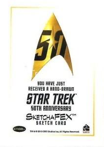 Star Trek The Original Series 50th Anniversary Trading Card Sketch Wu Wei Back