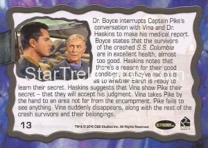 Star Trek The Original Series 50th Anniversary Trading Card The Cage 13 Back