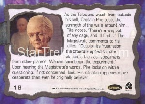 Star Trek The Original Series 50th Anniversary Trading Card The Cage 18 Back
