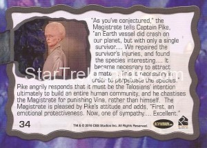 Star Trek The Original Series 50th Anniversary Trading Card The Cage 34 Back