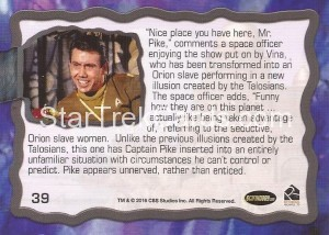 Star Trek The Original Series 50th Anniversary Trading Card The Cage 39 Back