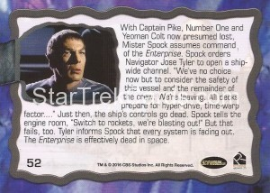 Star Trek The Original Series 50th Anniversary Trading Card The Cage 52 Back