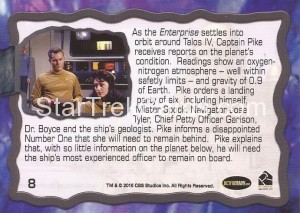 Star Trek The Original Series 50th Anniversary Trading Card The Cage 8 Back