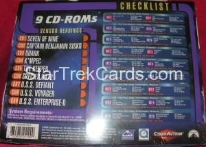 Star Trek The CyberAction Collective Trading Card Box Back