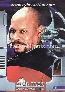 Star Trek The CyberAction Collective Trading Card Promotional Card Captain Benjamin Sisko