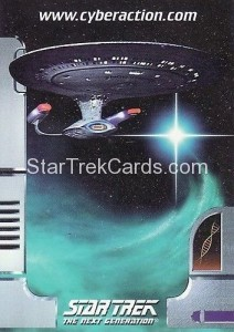 Star Trek The CyberAction Collective Trading Card Promotional Card USS Enterprise D