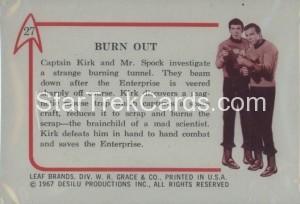 Star Trek Leaf Trading Card 27 Back