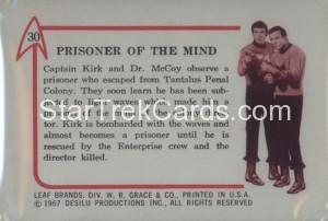 Star Trek Leaf Trading Card 30 Back