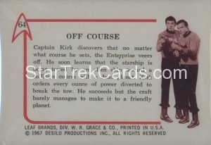 Star Trek Leaf Trading Card 64 Back