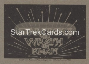 Star Trek II The Wrath of Khan FTCC Trading Card Back