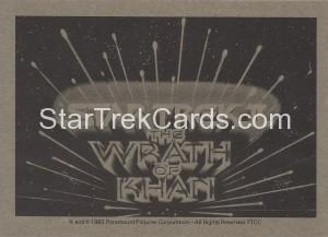 Star Trek II The Wrath of Khan FTCC Trading Card Back3