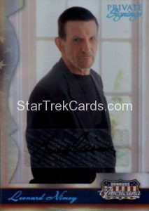 2007 Americana Private Signings Trading Card Leonard Nimoy