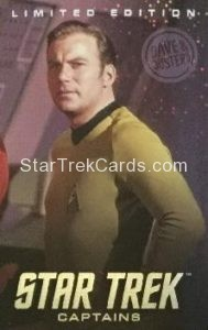 Dave Busters Star Trek Captains Arcade Trading Card Limited Edition Captain Kirk