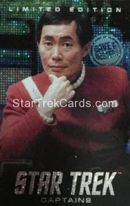 Dave Busters Star Trek Captains Arcade Trading Card Limited Edition Captain Sulu
