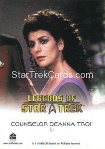 Legends of Star Trek Trading Card Counselor Deanna Troi L1 Back