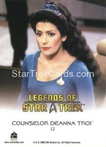 Legends of Star Trek Trading Card Counselor Deanna Troi L2 Back