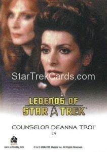 Legends of Star Trek Trading Card Counselor Deanna Troi L4 Back