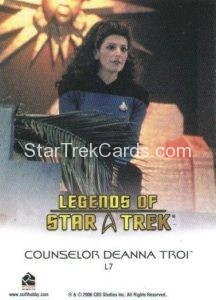 Legends of Star Trek Trading Card Counselor Deanna Troi L7 Back