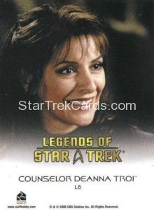 Legends of Star Trek Trading Card Counselor Deanna Troi L8 Back