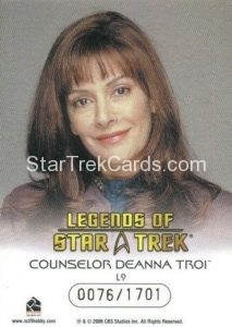 Legends of Star Trek Trading Card Counselor Deanna Troi L9 Back