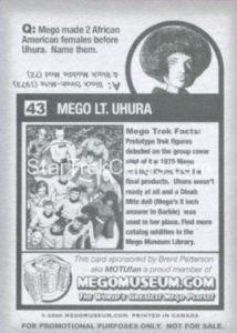 Mego Museum Trading Card 43 Back