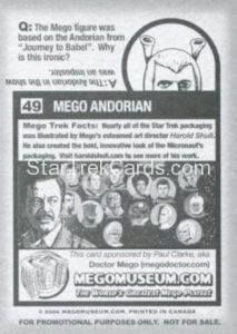 Mego Museum Trading Card 49 Back