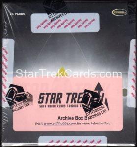 Star Trek 50th Anniversary Trading Card Archive Box