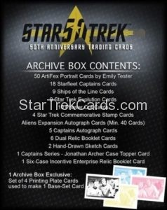 Star Trek 50th Anniversary Trading Card Archive Box Contents